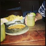 chips and queso and margaritas