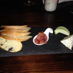 Cheese plate on slate