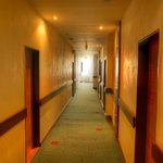 Corridor towards the rooms