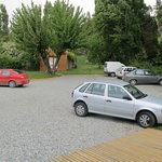 parking area at the back