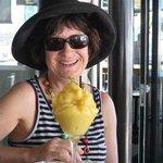 Melting mango mocktail. Looked like a huge dessert. Tasted wonderful