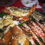 Seafood platter with Phuket lobster