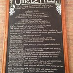 The Omelette menu