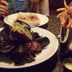 Moules frites and lamb mac