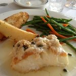 Halibut, haricot vert and potato entree