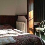 Modest and warm room in Hotel Chbat