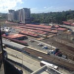 View from the room of Roma Street Station