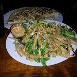Crab Claws w/amazing sauce and Tortuga Quesadilla