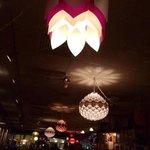 quirky & fun lighting at Rhythm Cafe