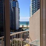 Room 506 Ocean Tower (Oceanview room) ocean glimpse