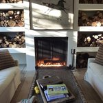 """Fireplace in the """"Lounge"""""""