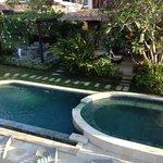 the mini swimming pool