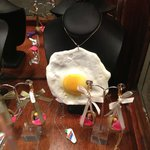 Fried egg necklace + other