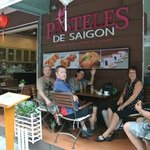 great little patisserie on corner. delicious eclairs and cafe su da!
