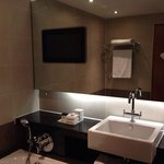Brilliant bathroom with built in tv