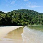 The beach at Datai Bay