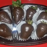 Chocolate Dipped Strawberries and Wine!