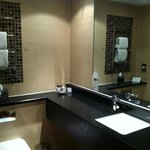 Nice bathroom but not a lot of toiletries