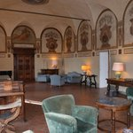 Hall with genuine frescoes