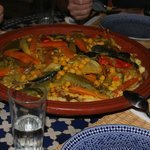 spécialité marocaine servie à l'hôtel