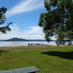 Stunning view of Lake Rotorua from our room