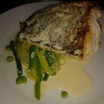 Fish with white wine sauce