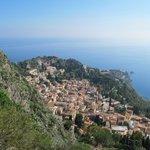 Taormina from the Villa Ducale terrace
