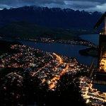 Visit the gondola just after sunset