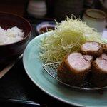 set: 【ヒレかつ定食 2,950yen】 ヒレ肉(250g)Pork Fillet