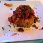 Mofongo criollo, very moist and tasty shrimp. The sauce is tomato base and very delicious