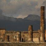 the rest of apollo temple and mountain vesuvius