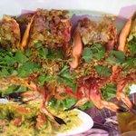 Garlic king prawn