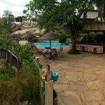 Hotel Canto das Águas - vista da piscina.