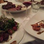 Filet, Salat, Lachs, Porterhouse