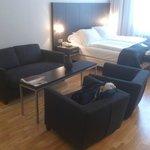 Junior suite bed & sitting area