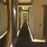 The corridors are all lit at floor level