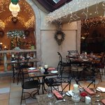 Ciro's Brasserie all ready for the Christmas mood!