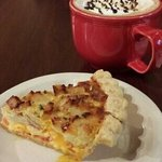 Salted Caramel Mocha & Turkey Cheddar Quiche