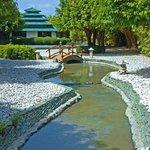 Japanese Garden inside the resort.  Massage/spa area.