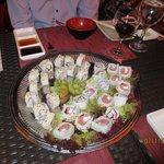 Sushi at Himitsu