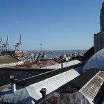 Vue sur le port depuis le rooftop