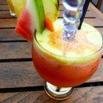 Watermelon, apple & carrot drink