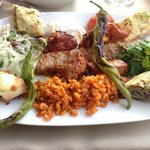 Mixed meat plate. Kebob and lamb cubes were my favorite!