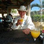 Bill's orange juice with breakfast