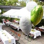 Hochzeits-Biergarten
