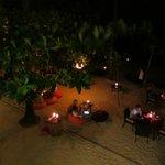 Blick auf den Strand - chillen am Abend