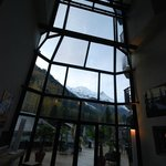 View from reception to Mont Blanc
