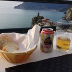 Over seeing Vernazza and the distant Monterosso