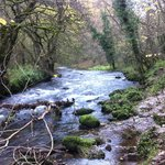 The River Wye below the Monsal trail, drop down off the trail and walk along the river...