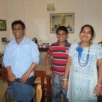 Swapan, Kusum and their son Manav
